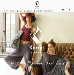 Karrys Yoga Fashion | お洒落なヨガファッション オンラインショップ