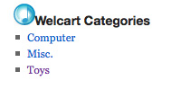 uCart category widget